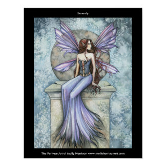 Serenity Fairy Poster by Molly Harrison