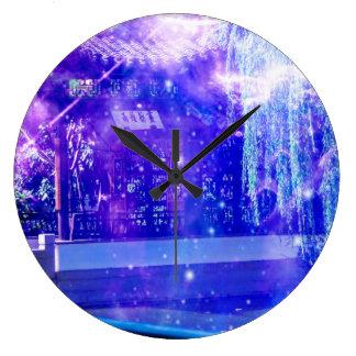 Serenity Garden Dreams Large Clock