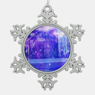 Serenity Garden Dreams Pewter Snowflake Ornament