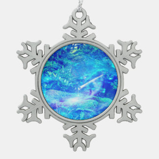 Serenity in the Garden Pewter Snowflake Ornament