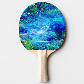 Serenity in the Garden Ping-Pong Paddle