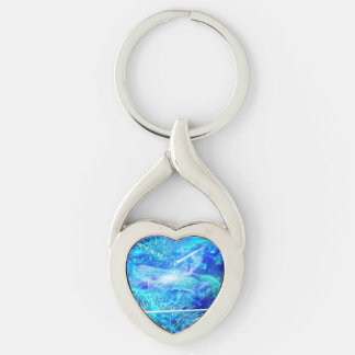 Serenity in the Garden Silver-Colored Twisted Heart Keychain