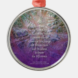 Serenity Incense Cedar Silver-Colored Round Ornament