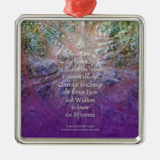 Serenity Incense Cedar Silver-Colored Square Ornament