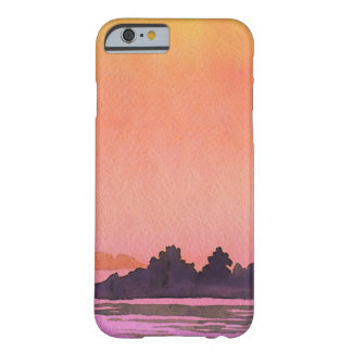 Serenity landscape Watercolor Barely There iPhone 6 Case