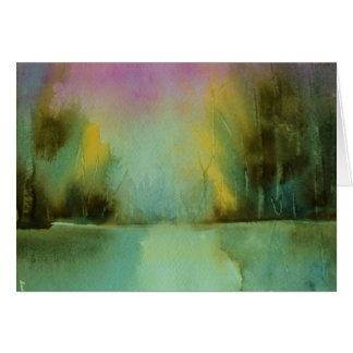Serenity landscape Watercolor Card