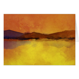 Serenity landscape Watercolor Card