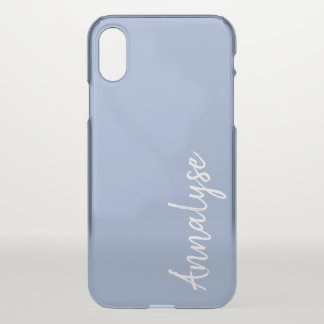 Serenity Light Blue Powder Solid Color Custom iPhone X Case