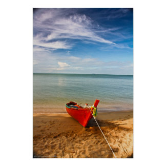 """""""Serenity - Little Red Boat"""" Photograph Print"""
