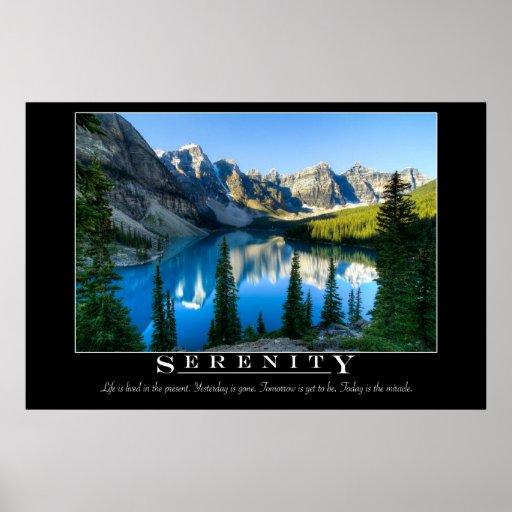 Serenity - Motivational Poster