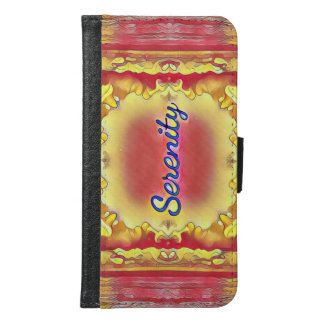 'Serenity' On Beautiful Rose Yellow Reflective Abs Samsung Galaxy S6 Wallet Case
