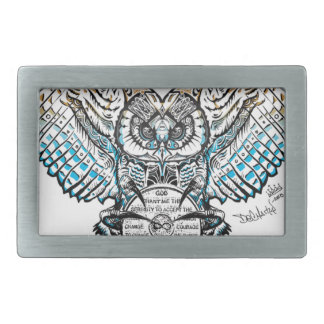 Serenity Owl Rectangular Belt Buckle