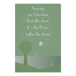 Serenity - peace within the storm poster