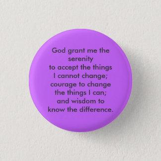 Serenity prayer 1 inch round button