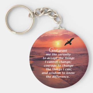 Serenity Prayer 3 Keychain