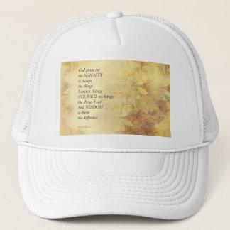 Serenity Prayer Abstract Sunflower Trucker Hat