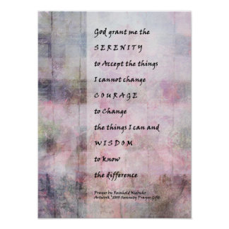 Serenity Prayer Abstract Woven Sunrise Print