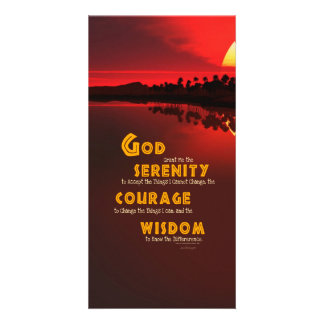 Serenity Prayer: African Red Sun Strength/Recovery Photo Cards