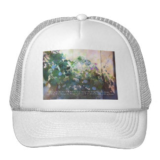 Serenity Prayer Afternoon Morning Glories Trucker Hat