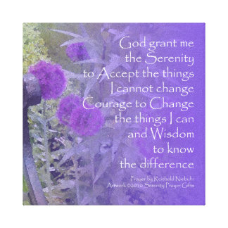 Serenity Prayer Allium Wrapped Canvas