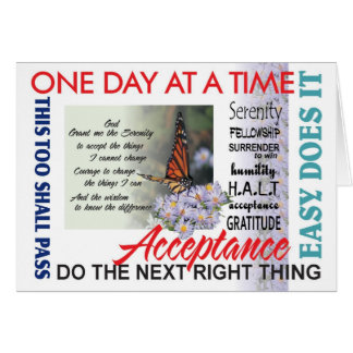 serenity prayer and inspirations card