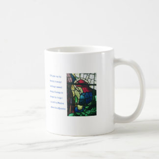 Serenity Prayer and man praying in stained glass Coffee Mug