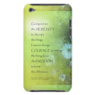 Serenity Prayer Bachelor's Buttons iPod Touch Case