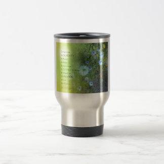 Serenity Prayer Bachelor's Buttons Travel Mug