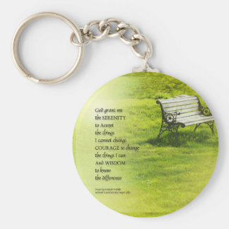 Serenity Prayer Bench Keychain