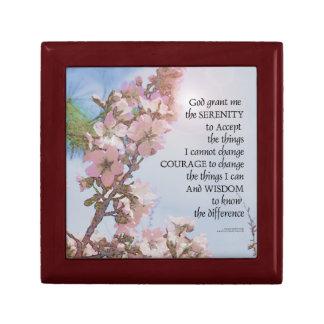 Serenity Prayer Blossoms Sky Tree Gift Box