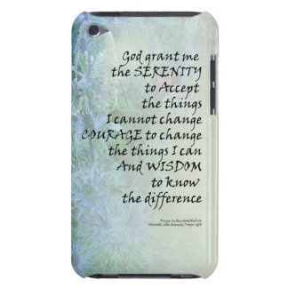 Serenity Prayer Blue Cone Flowers Barely There iPod Covers