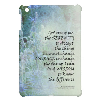 Serenity Prayer Blue Cone Flowers Cover For The iPad Mini