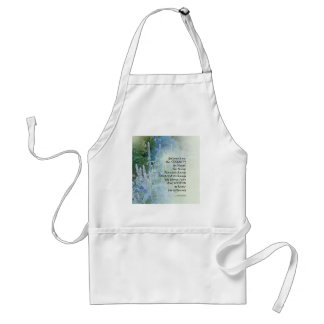 Serenity Prayer Blue Cone Flowers Standard Apron