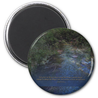 Serenity Prayer Blue Creek 2 Inch Round Magnet