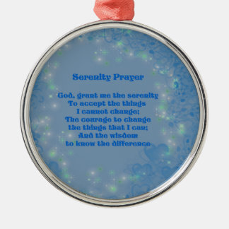 Serenity Prayer Blue Hearts Inspirational Ornament