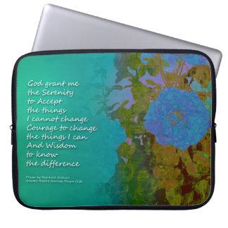 Serenity Prayer Blue Roses 2 Laptop Sleeve