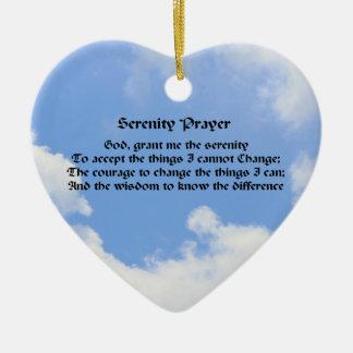 Serenity Prayer Blue Sky Inspirational Ornament