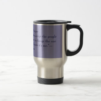 SERENITY PRAYER - BLUE TRAVEL MUG