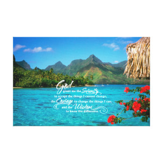 Serenity Prayer & Bora Bora Canvas Print