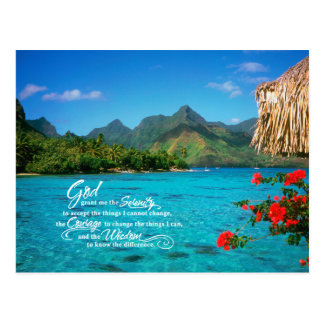 Serenity Prayer & Bora Bora Postcard