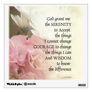 Serenity Prayer Bouquet Wall Sticker