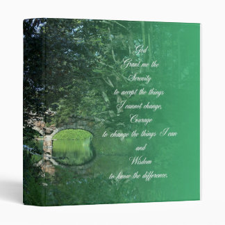 Serenity Prayer Bridge Binders