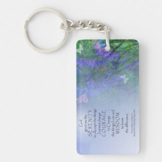 Serenity Prayer Butterflies & Vetch Keychain