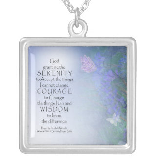 Serenity Prayer Butterflies & Vetch Necklace
