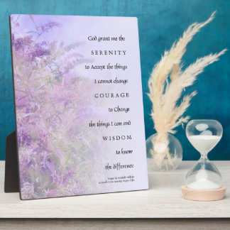 Serenity Prayer Butterfly Bush Plaque