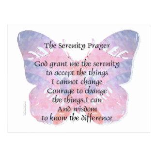 Serenity Prayer Butterfly Postcard