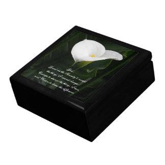 Serenity Prayer Calla Lily Floral Gift Box