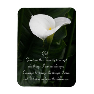 Serenity Prayer Calla Lily Photo Rectangular Photo Magnet