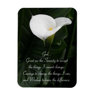 Serenity Prayer Calla Lily Rectangular Photo Magnet