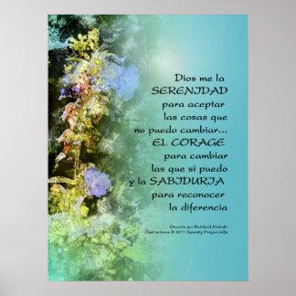 Serenity Prayer Campanulas Spanish  Print